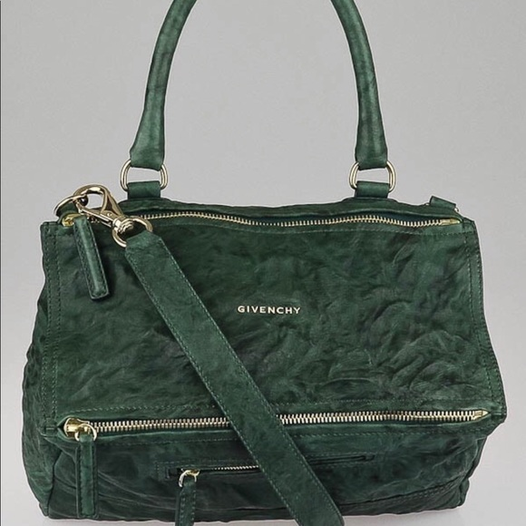 49b9934452d3 Givenchy Handbags - Givenchy green sheep leather medium pandora bag